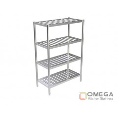 4 - TIERS SLATTED SHELVES 1