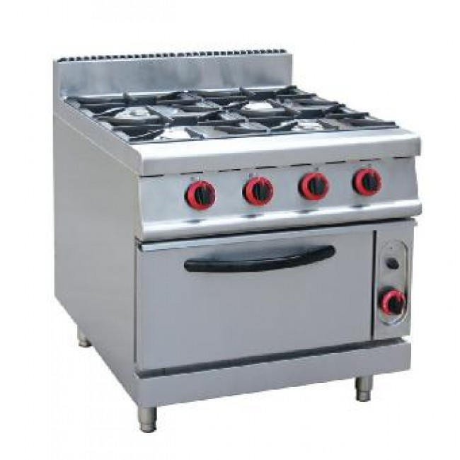 Gas 4-burner with gas oven(Itlainburner)