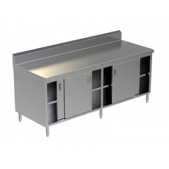 CABINET SLIDING DOORS W/UNDER SHELF 3
