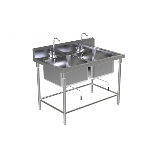 DOUBLE SINK TABLE W/FAUCET 4