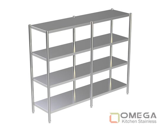 4 - TIERS PLAIN SHELVES OKS-4TPS-02