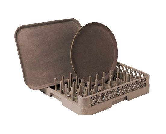 64-Compartment Open Plate&Tray Rack
